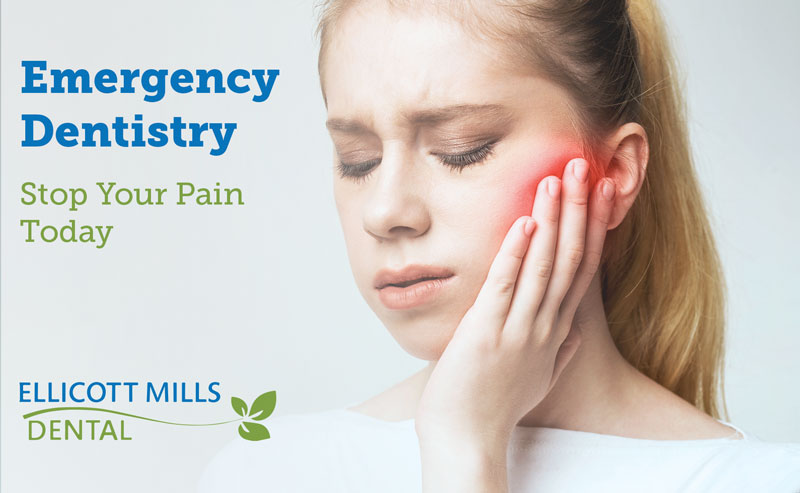 Emergency Dentistry: If you are experience tooth pain, set-up and appointment with Ellicott Mills Dental Today to stop your pain