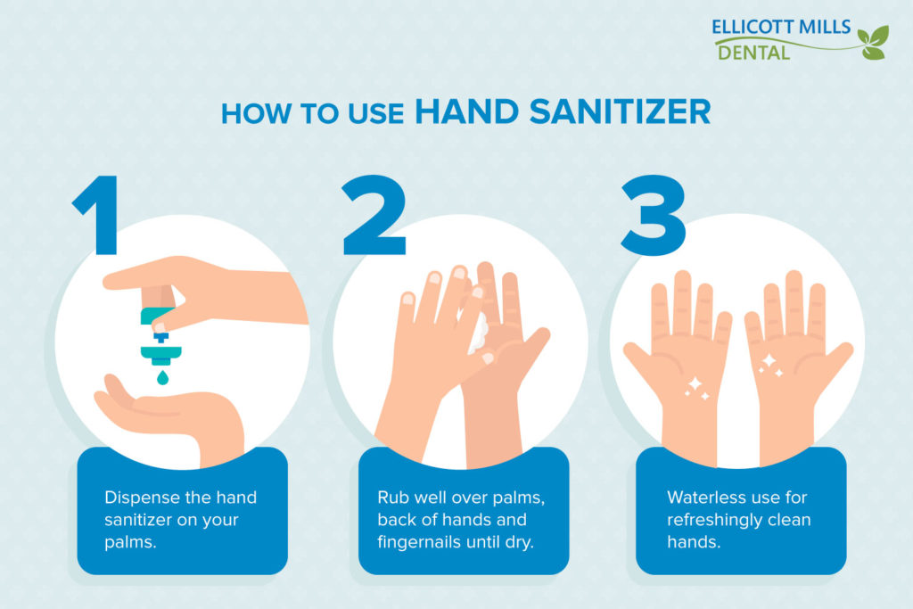 How to Use Hand Sanitizer | Ellicott Mills Dental